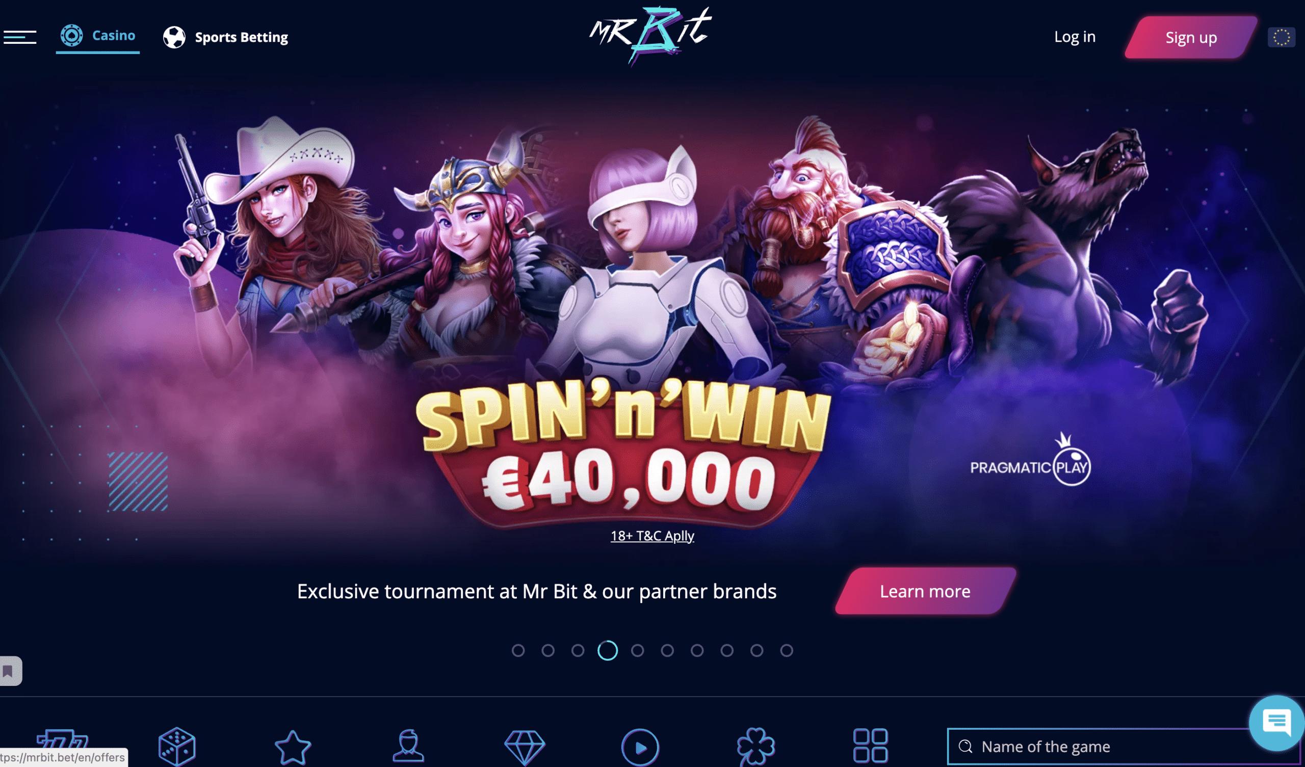 MrBit Casino Banner