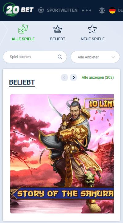 20Bet Online Casino mit Echtgeld