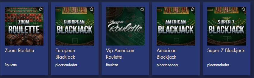Bondibet Casino Brettspiele